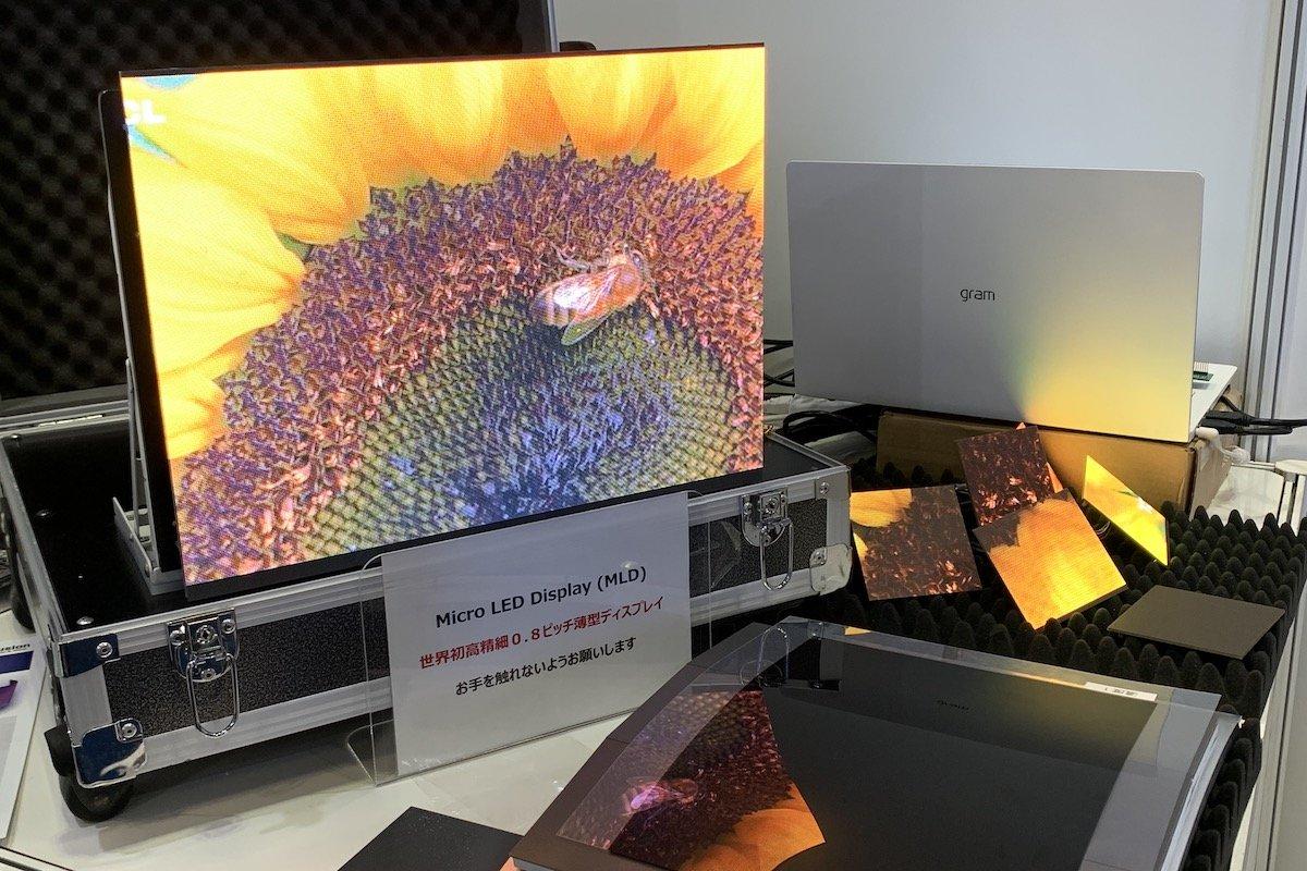 0.8mmピッチのマイクロLEDディスプレー、日韓2社が共同開発