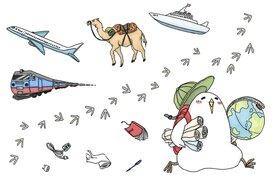 """漫画「付け焼き刃現地語習得」 見知らぬ土地での珍エピソードを描く""""旅のトリ""""低橋さん"""