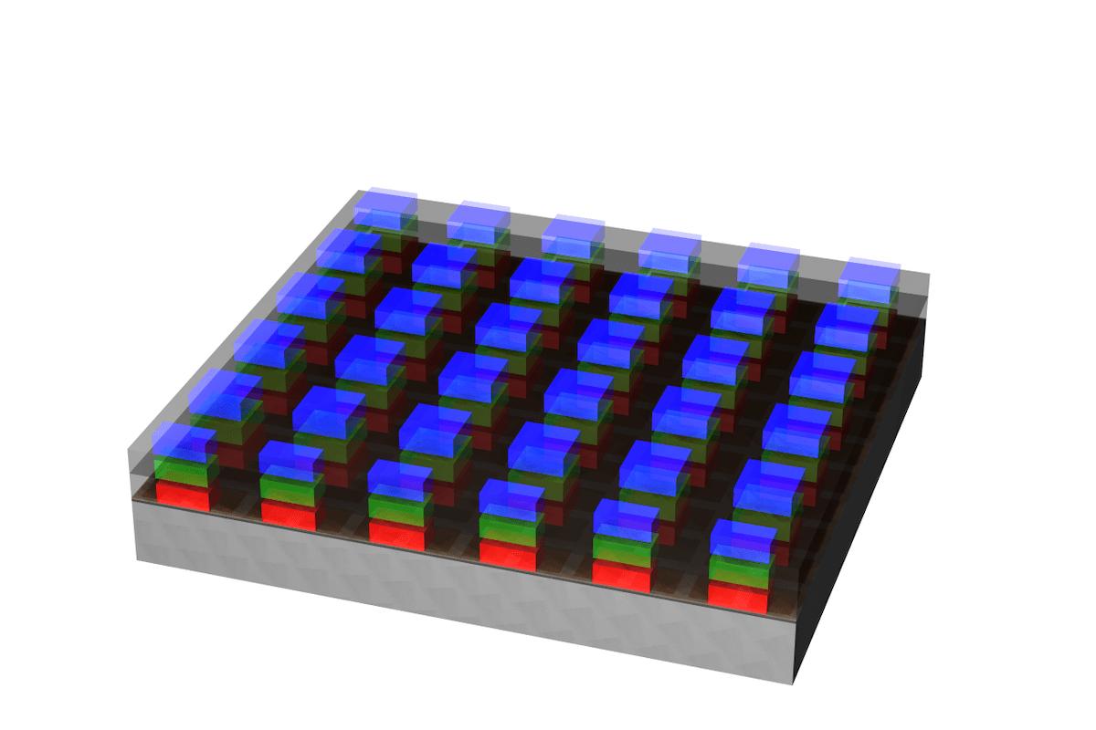 OKI、フルカラーのモノリシック型マイクロLEDを開発