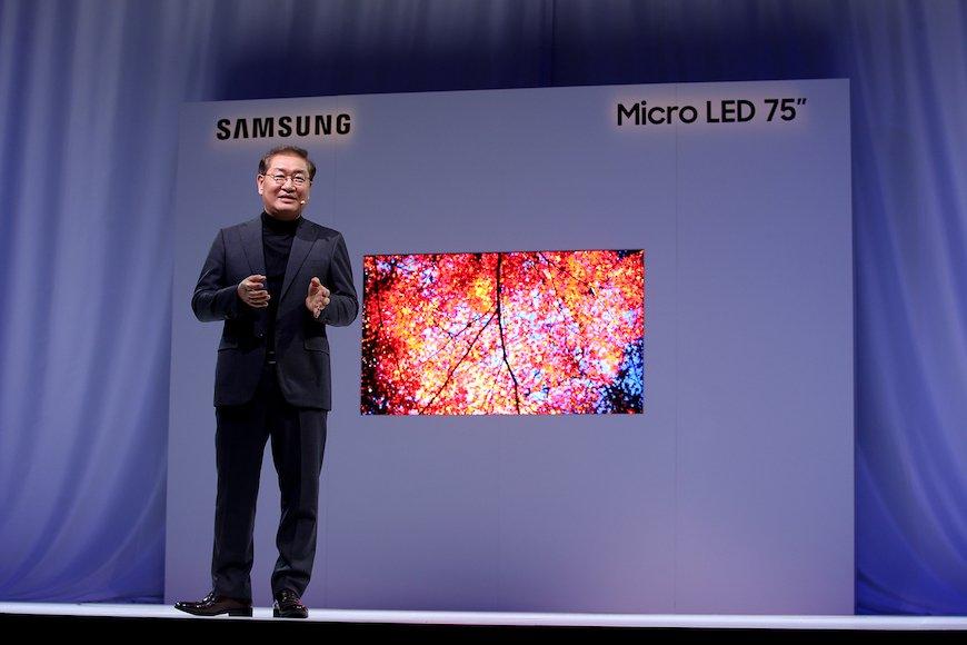 サムスン電子が75インチのマイクロLEDを披露