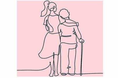「家族の介護をしている人」の年齢層はどのくらい?