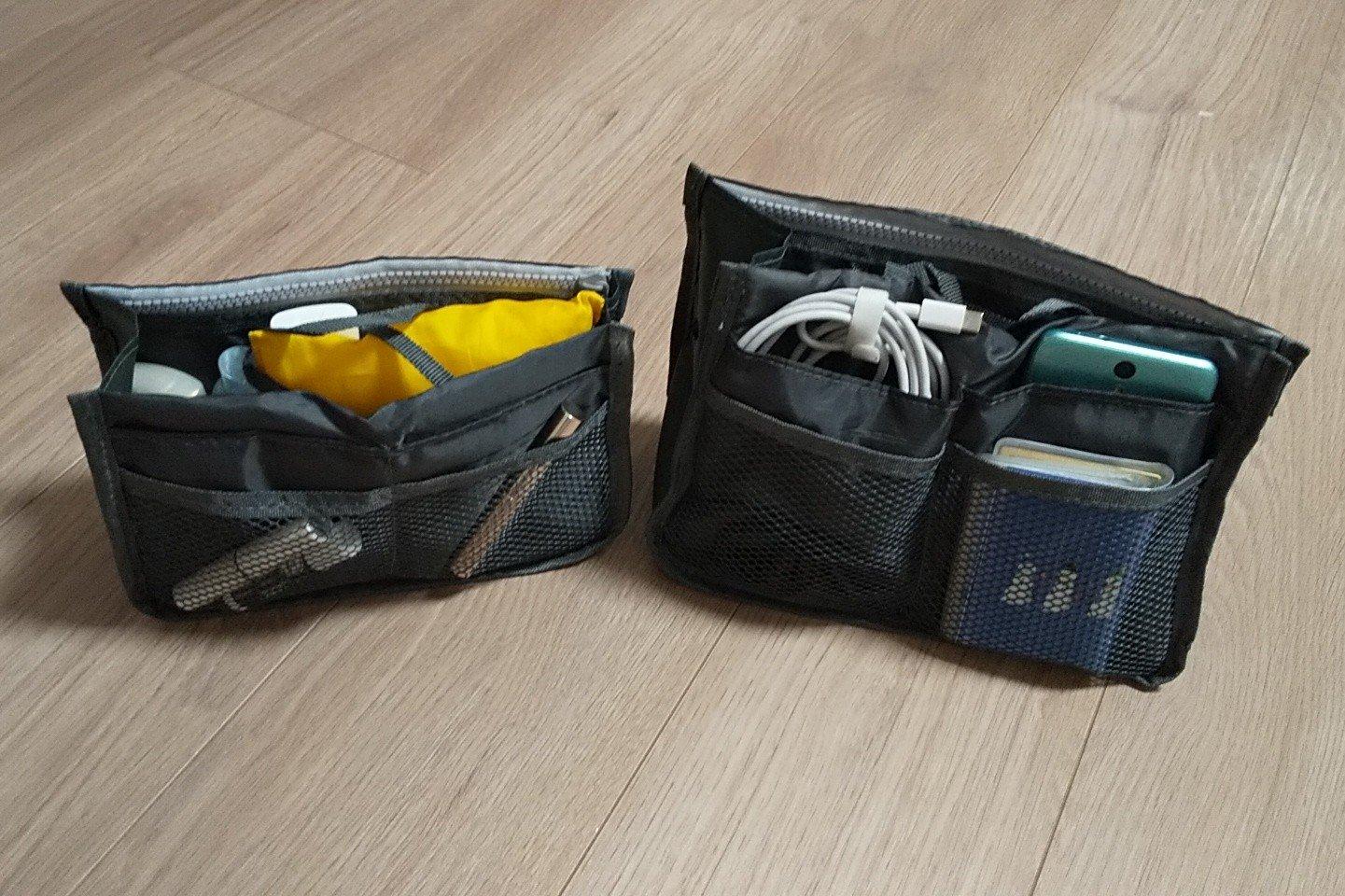 11ポケットで仕訳簡単【ダイソー】「バッグインバッグ」収納力抜群