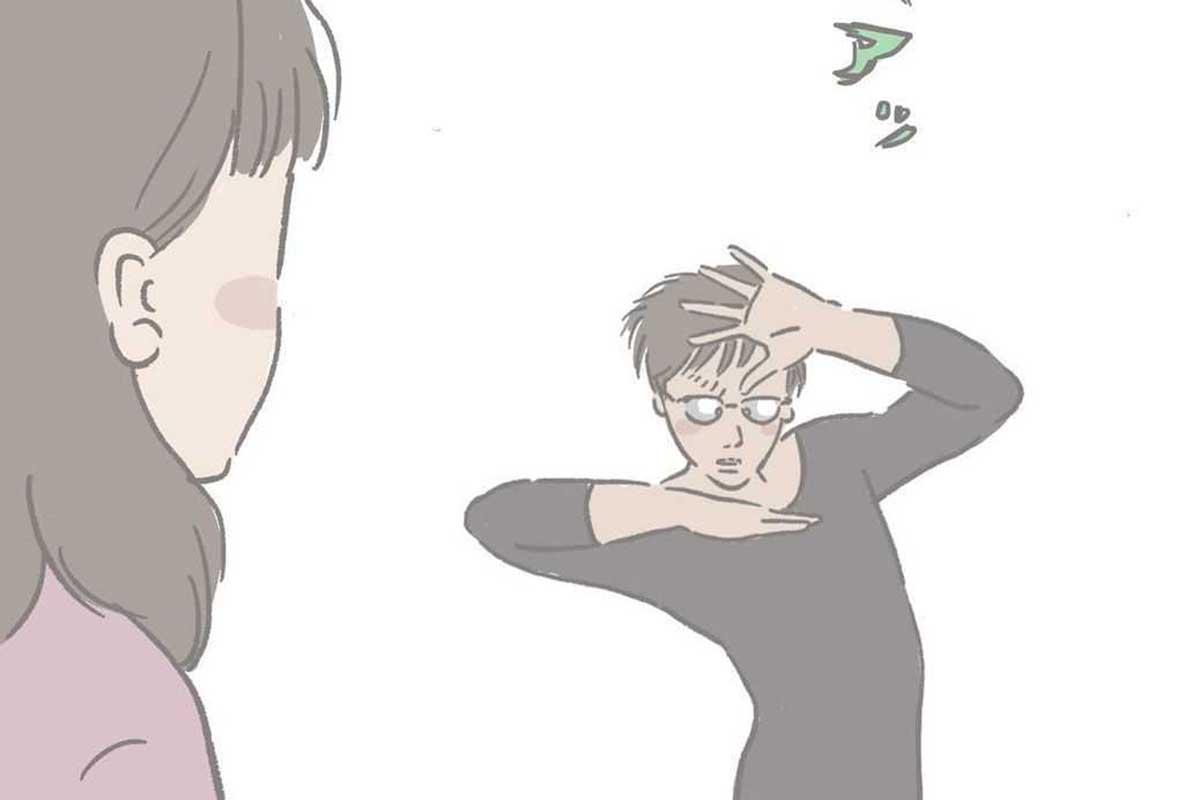 """【風呂上がりの夫がウザい】奥さんのヒートテックを着て…""""ジョジョ立ち""""?SNSで漫画に注目"""