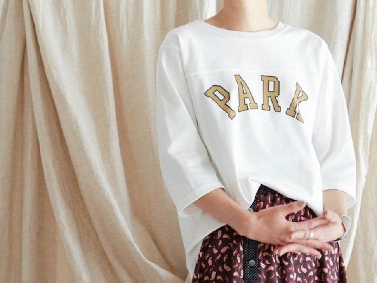 秋のインナーにも重宝します! ロゴで魅せる大人の白Tシャツ4枚
