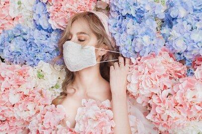 即完売したハニーズ「2個580円花柄綿レース夏マスク」7月28日にカラバリ増えて再販